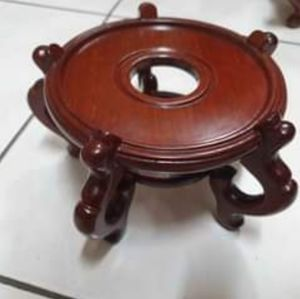 """Rosewood Fish Bowl Planter Stand 5"""" (14.5CM) NEW"""